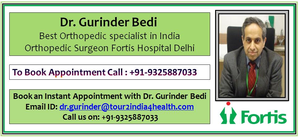 Best Orthopedic surgeon Dr. Gurinder Bedi