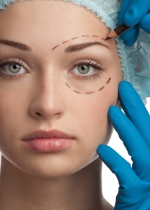 Tradditional lower eyelid surgery